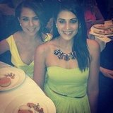 Kate Ritchie and Stephanie Rice sat next to each other at the Emerald and Ivy Ball. Source: Instagram user itsstephrice