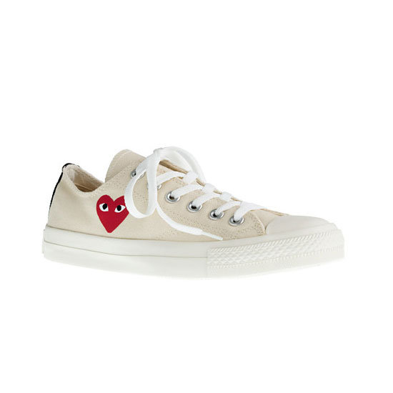 Trainers, approx $138, Play Comme des Garcons for Converse at J.Crew