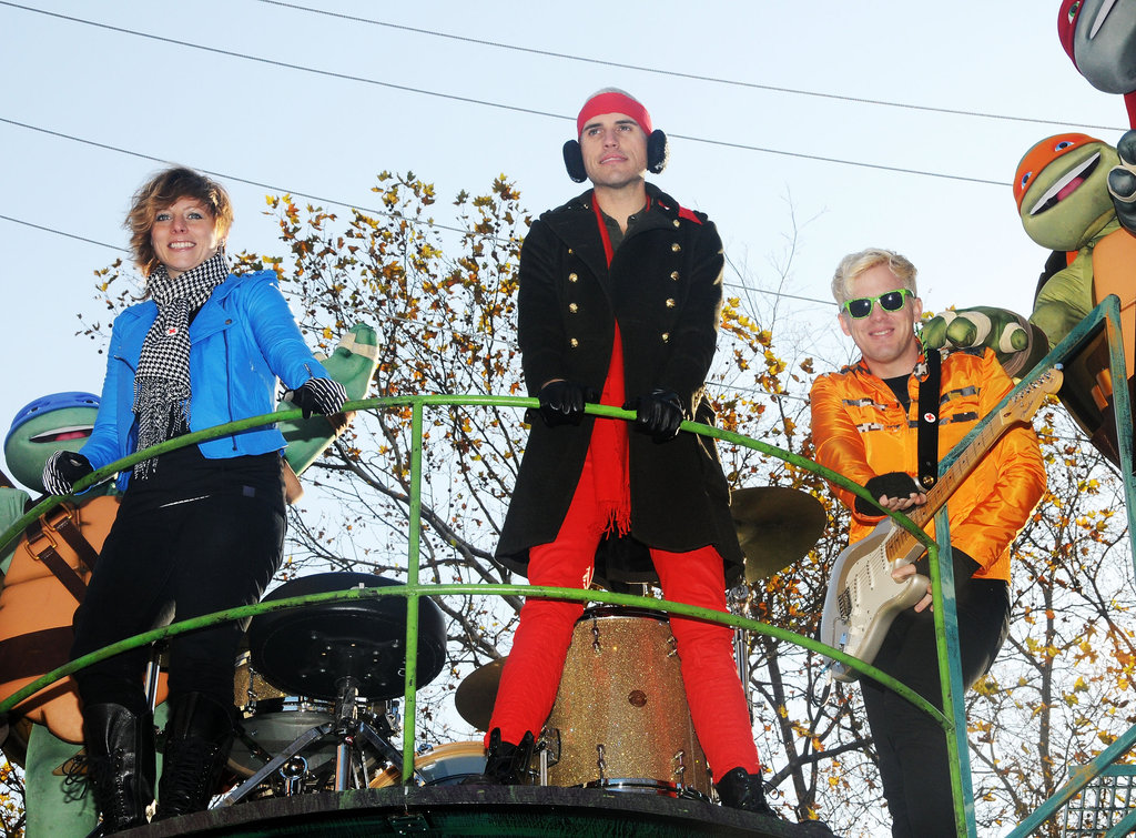 Band Neon Trees performed at the Macy's Thanksgiving Day Parade.