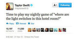 So many hotel rooms, so little time for Taylor Swift.