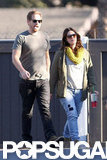 Drew Barrymore and her husband went shopping in LA.