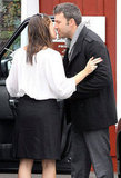 Ben Affleck leaned into kiss Jennifer Garner after they shared a breakfast date in LA in September.