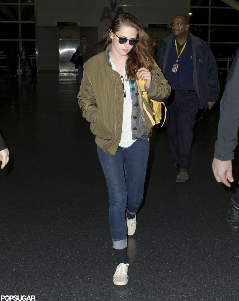 Kristen Stewart walked through JFK.