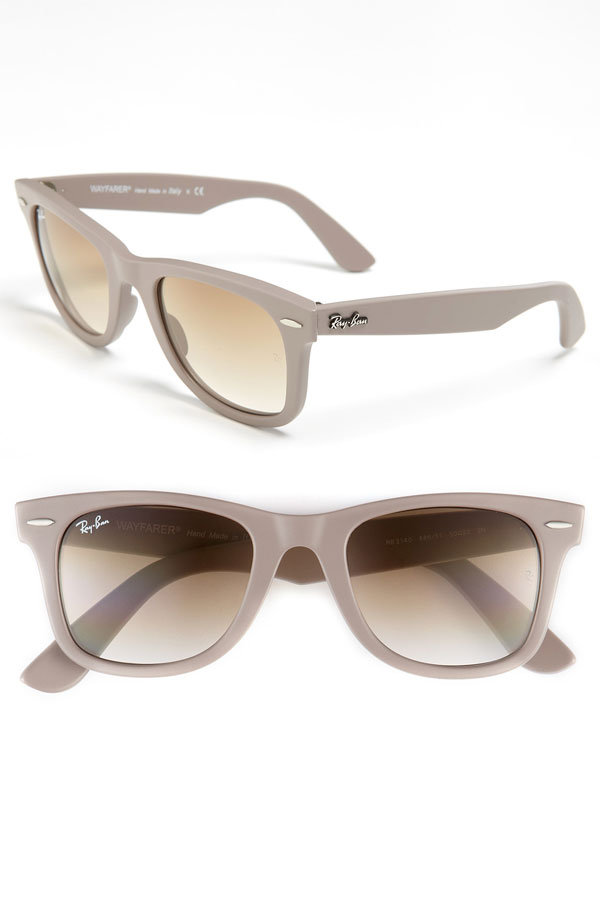 With the clean lines and cool neutral hue, these Ray-Ban Wayfarers ($150-$155) are sure to please any minimalist-cool friend.