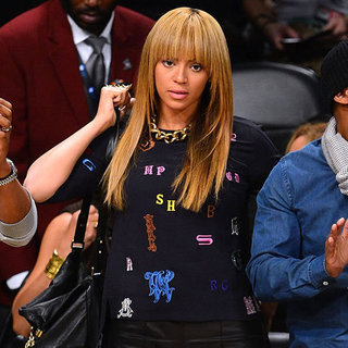Beyonce Wearing Letter Sweater