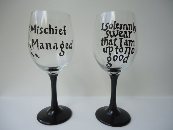 Harry Potter Wineglasses ($28)