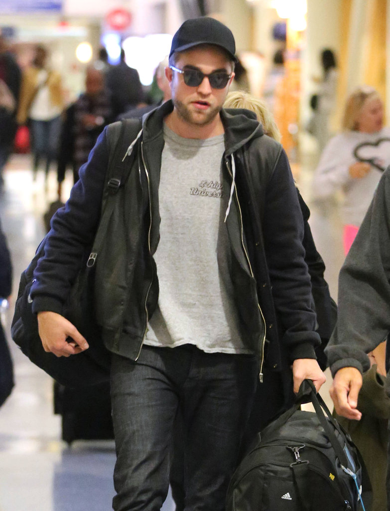 Robert Pattinson wore a hat at LAX.