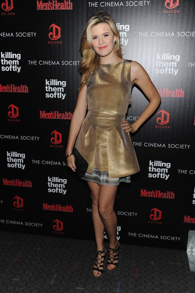 Maggie Grace posed for photos at the screening of Killing Them Softly in NYC.