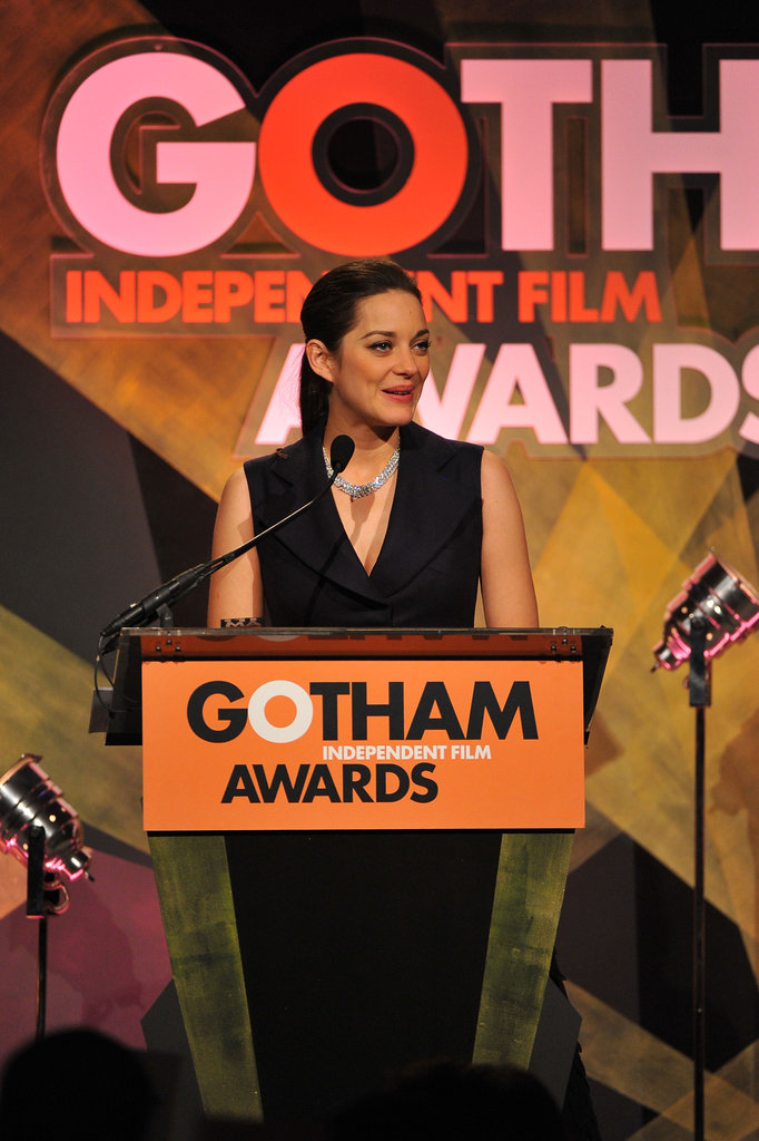 Marion Cotillard accepted an honor.