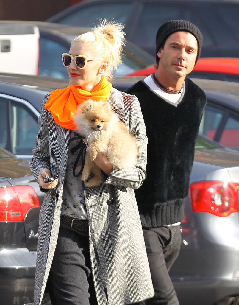 Gwen Stefani and Gavin Rossdale walked together in LA.