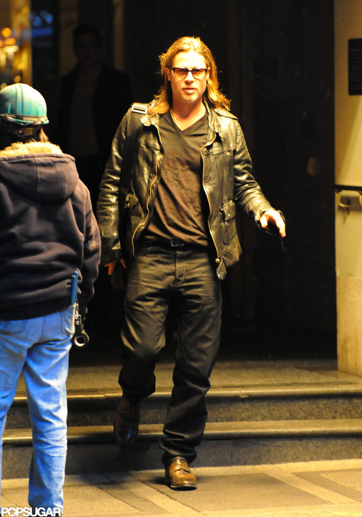 Brad Pitt stepped out in NYC.