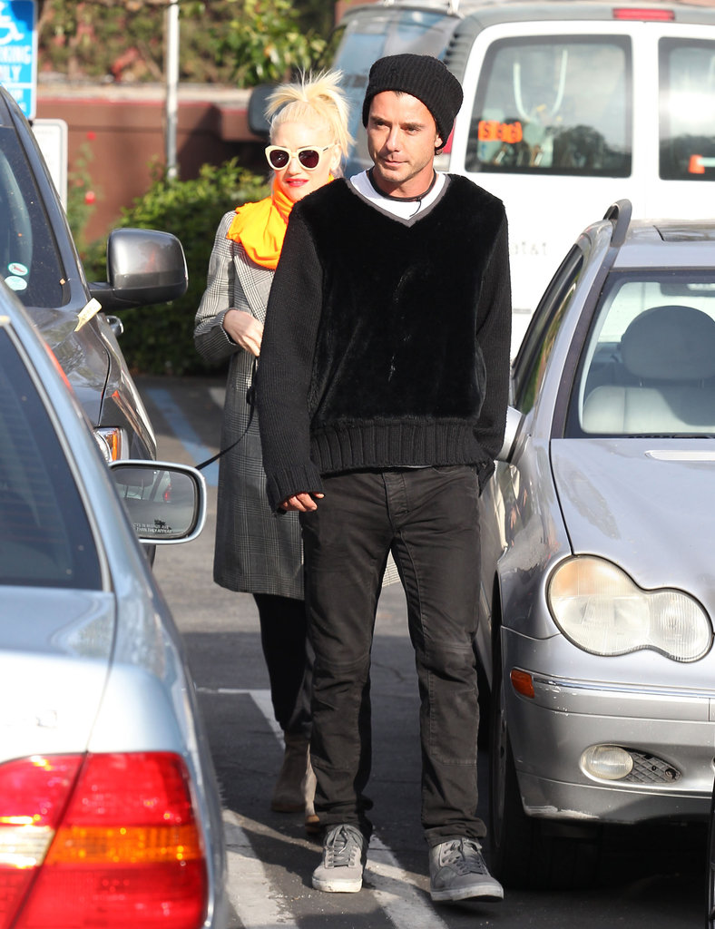 Gavin Rossdale and Gwen Stefani walked together.