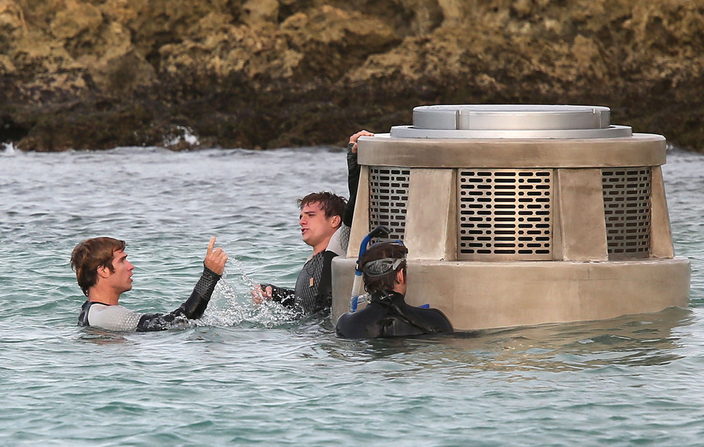 Jennifer Lawrence and Josh Hutcherson Film Catching Fire in Hawaii
