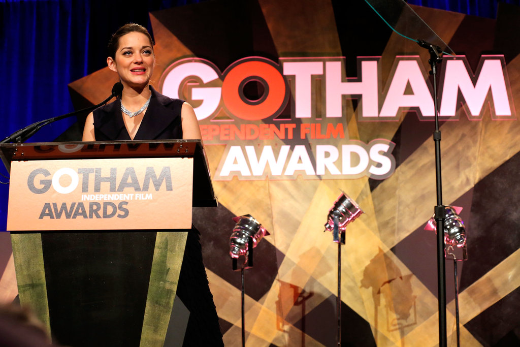 Marion Cotillard picked up an honor in NYC.