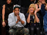 Beyonce Knowles and Jay-Z stepped out together to watch a basketball game in NYC.