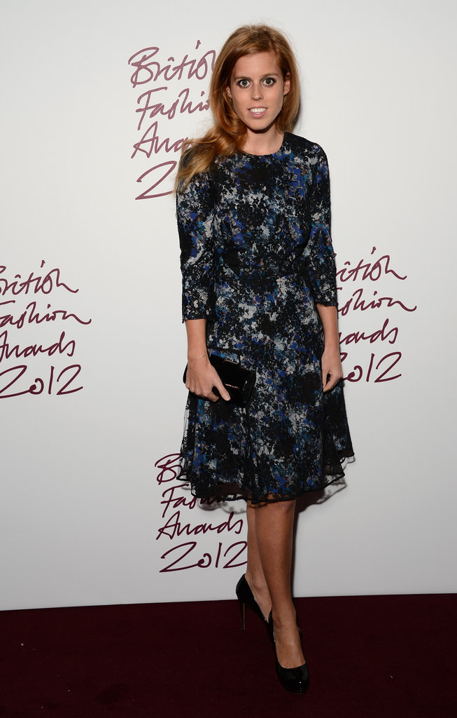 Princess Beatrice of York posed on the carpet.