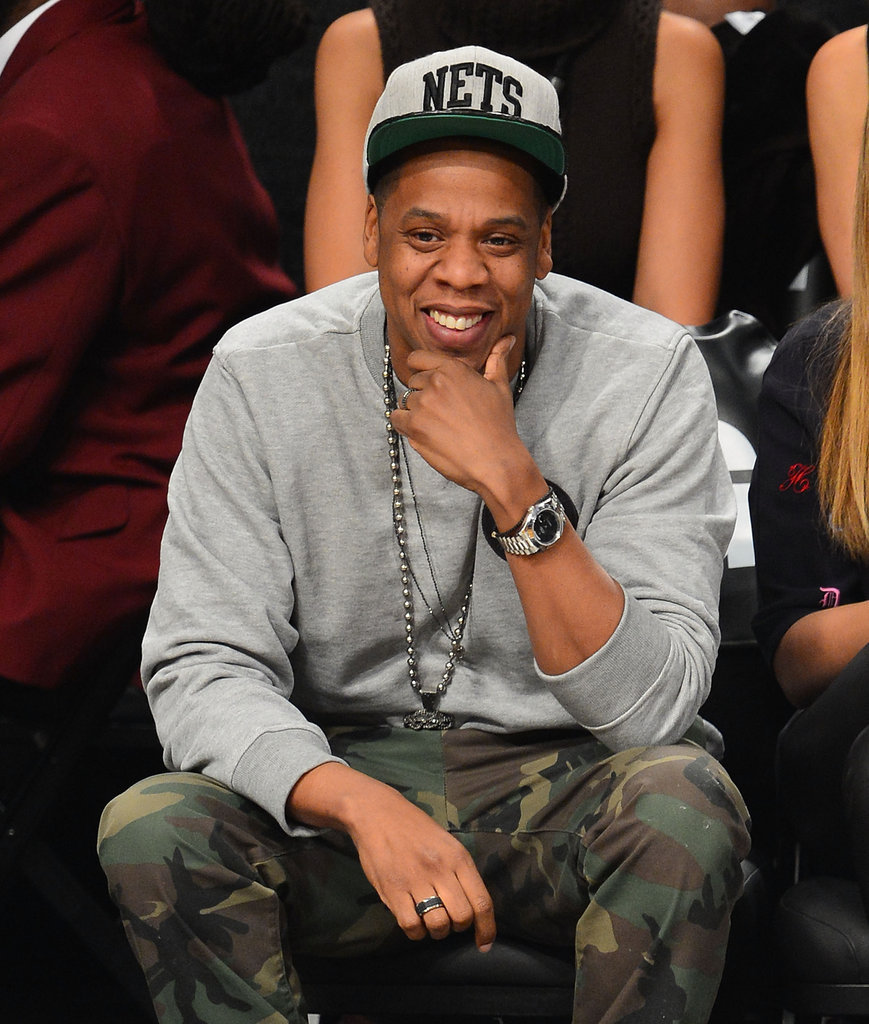 Jay-Z smiled while out in NYC.