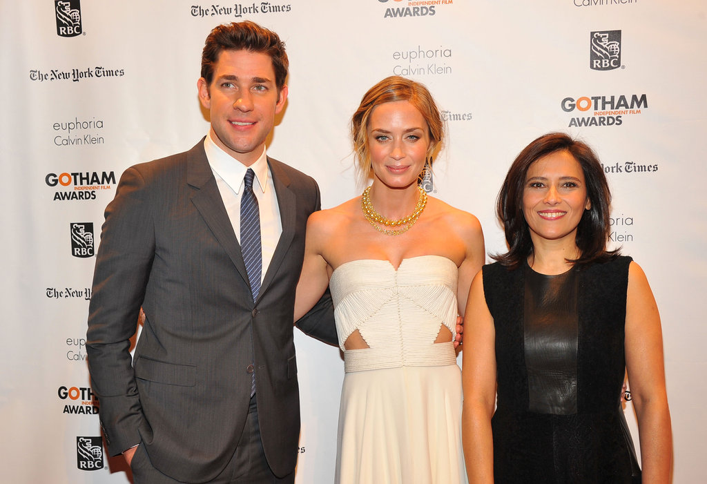 John Krasinski, Emily Blunt, and Joana Vicente smiled on the red carpet.
