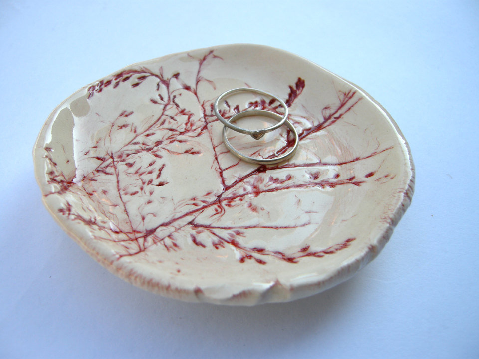 Floral Ceramic Ring Catchall Dish