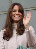 Kate Middleton gave a wave.