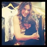 Alessandra Ambrosio hugged a fan. Source: Twitter user AngelAlessandra