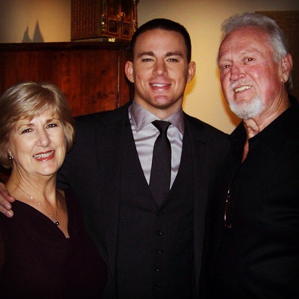 Channing Tatum posed with his parents. Source: Instagram channingtatumunwrapped