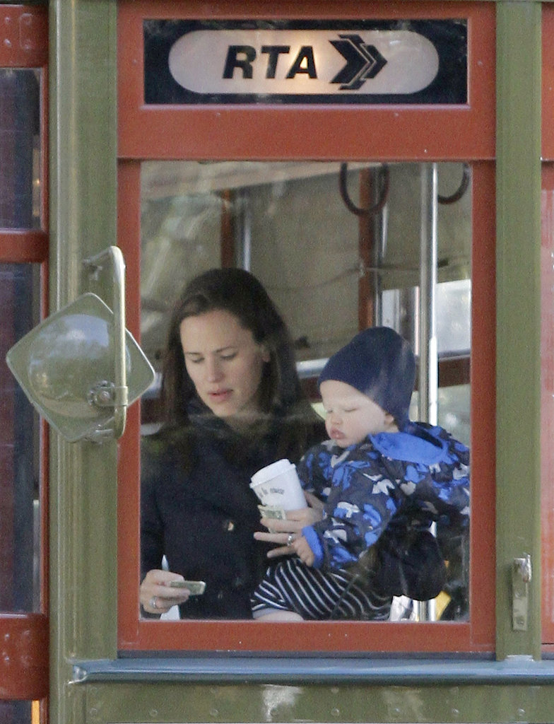 Jennifer Garner took Samuel Affleck on a trolley.