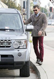 Ben Affleck walked to his car in LA.