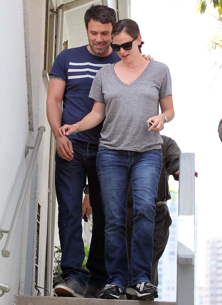 Jennifer Garner and Ben Affleck shared a laugh while shopping together in LA in July.