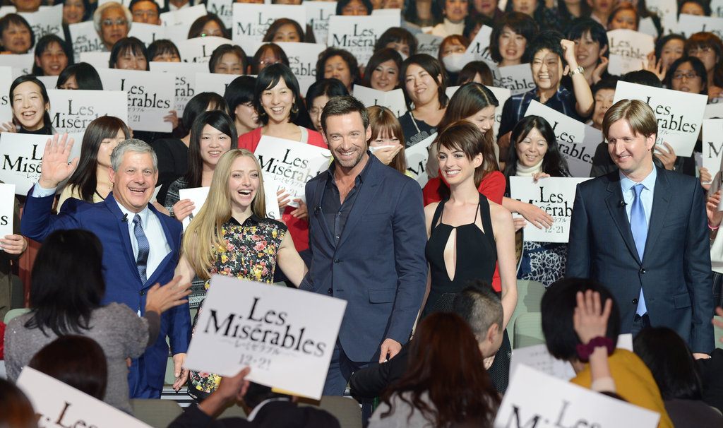 Anne, Hugh, and Amanda Show Off Les Mis in Japan