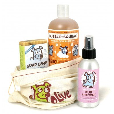 Olive Green Dog Spa Set For Dogs