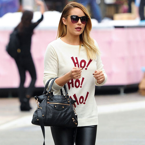 Lauren Conrad Wearing Ho Ho Ho Sweater