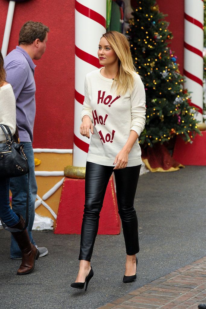 Lauren Conrad Shows Off Her Holiday Spirit in LA