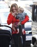Hilary Duff and Luca Comrie went shopping in Studio City.