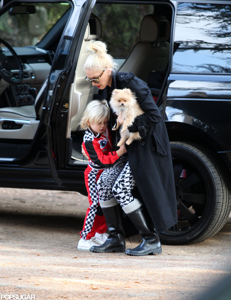 Gwen Stefani got Zuma out of the car in LA.