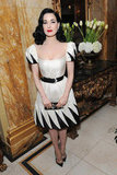 Dita Von Teese stepped out for the-miumiu-london day two.
