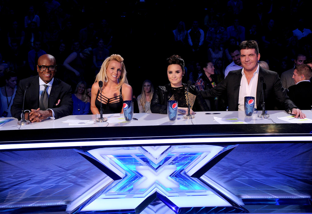 Britney Spears joined the judges at the judging table.