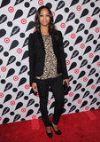 Zoe Saldana stepped out to celebrate the Target and Neiman Marcus Holiday Collection launch in NYC.