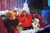 Cee Lo Green sang with the Muppets during the taping of the Rockefeller Center Christmas tree lighting in NYC.