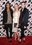 Zoe Saldana, Kate Bosworth and Allison Williams posed together on the red carpet in celebration of the Target and Neiman Marcus Holiday Collection launch in NYC.
