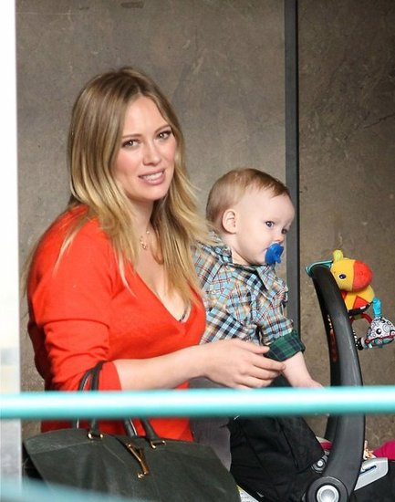 Hilary Duff and Luca Comrie attended a class in Sherman Oaks.
