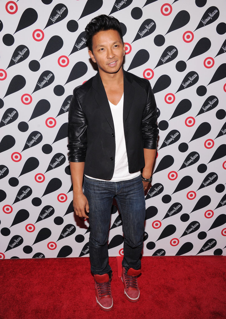 Prabal Gurung was effortlessly cool (per usual) in a leather-sleeved jacket and high-tops.