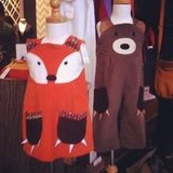 Fox Dress and Brown Bear Dungaree