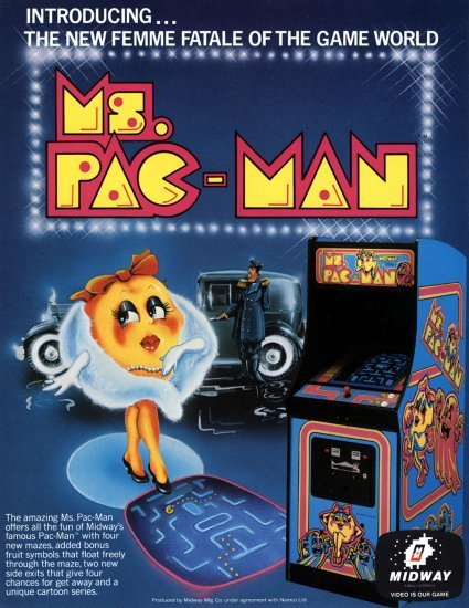 Watch out, here comes the femme fatale of the game world —Ms. Pac-Man.