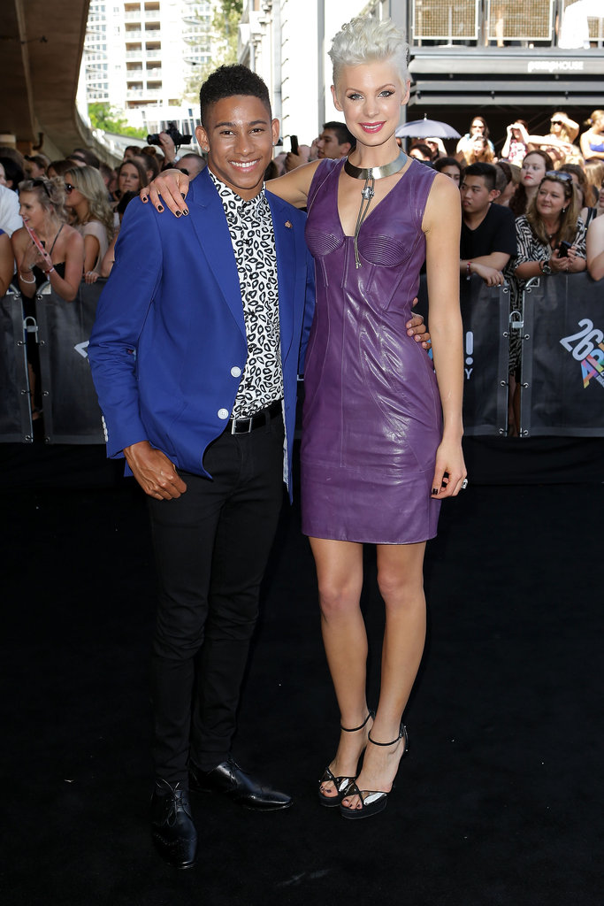 Keiynan Lonsdale and Kate Peck