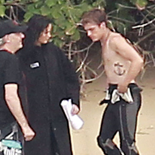 Jennifer Lawrence on Set With Shirtless Josh Hutcherson