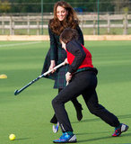 Kate Middleton Plays Field Hockey in Plaid and Heels