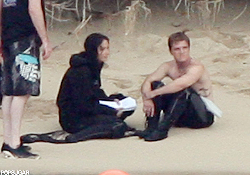 Jennifer Lawrence Gets Wet on Set With Shirtless Josh Hutcherson