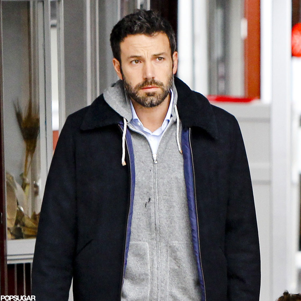 Ben Affleck wore a gray hoodie to breakfast.