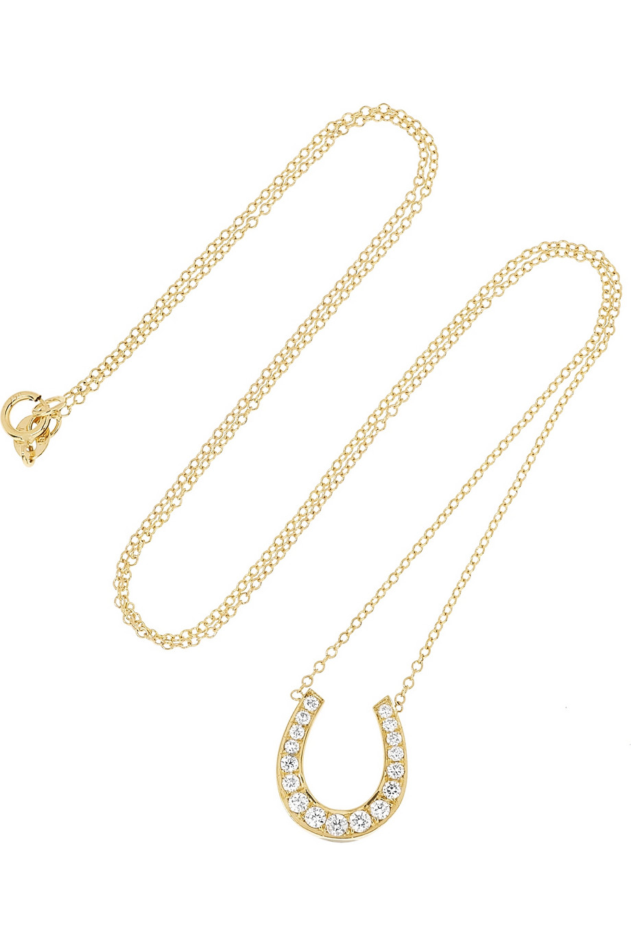 Anita Ko's gold diamond horseshoe necklace ($3,675) is simply irresistible. I'd wear it on my neck 365 days of the year. — Chi Diem Chau, associate editor